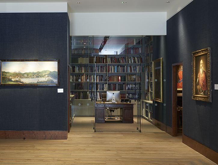 Lawrence's desk in the gallery's library