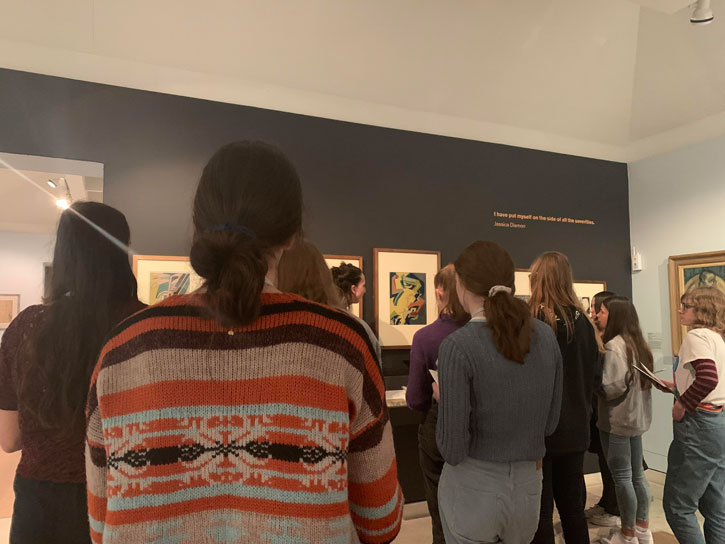 Students at Pallant House Gallery for the Write on Art workshop