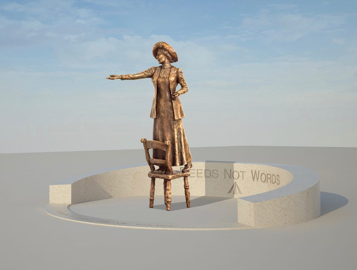 The maquette for the statue of Emmeline Pankhurst