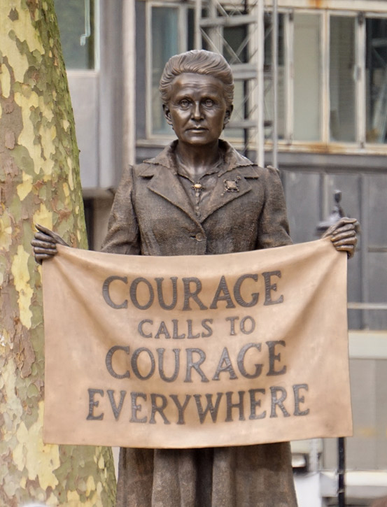 The statue of Millicent Fawcett, Parliament Square, London