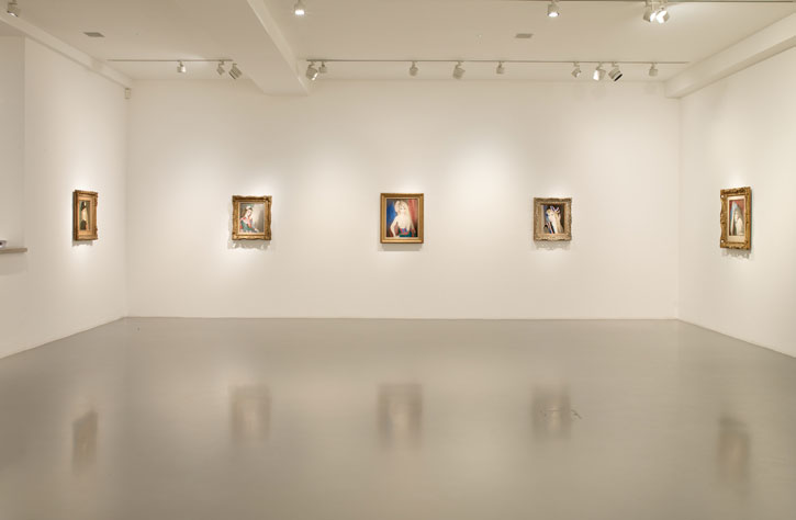 Installation view of Marie Laurencin at Nahmad Projects.