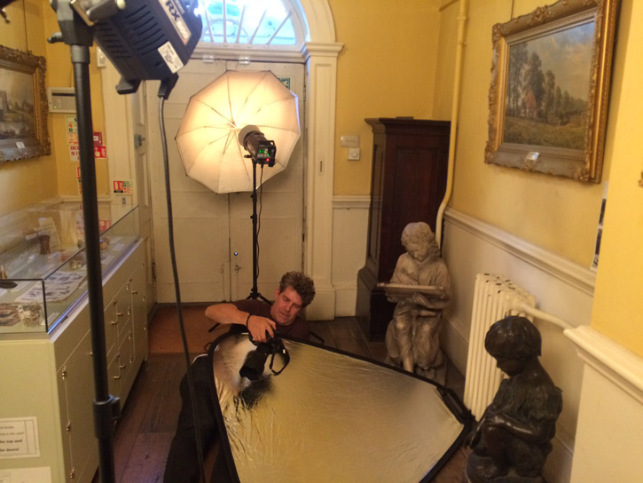 Photographer Justin Piperger at Bruce Castle Museum