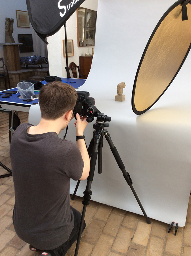 Art UK Sculpture Project photography session at Kettle's Yard