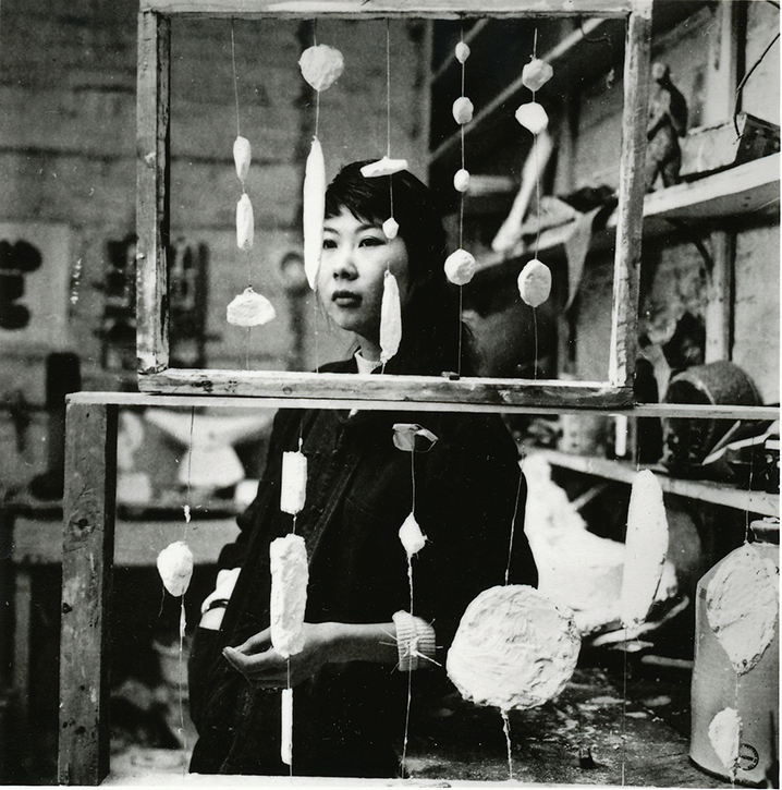 Kim Lim in her studio, 1959