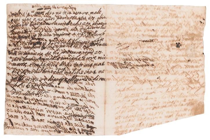 Solinas 2011, Letter 20, Artemisia to Francesco Maria Maringhi