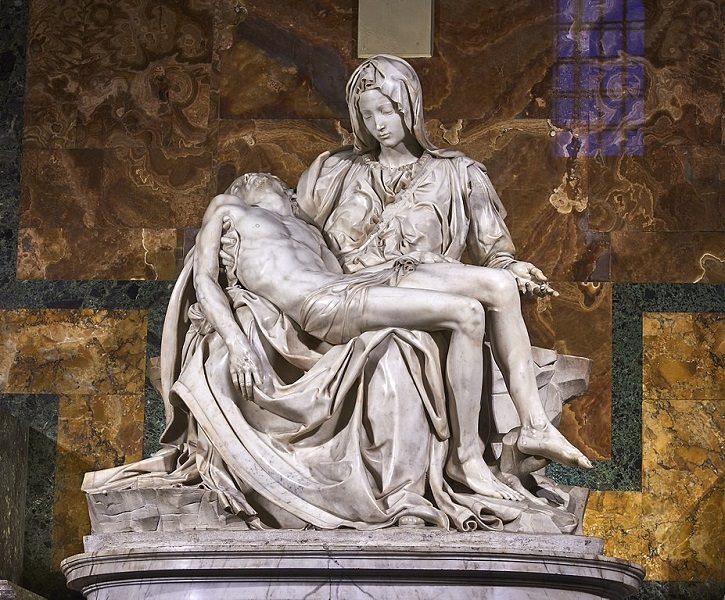 Michelangelo's 'Pietà' in St Peter's Basilica, Vatican City, Rome