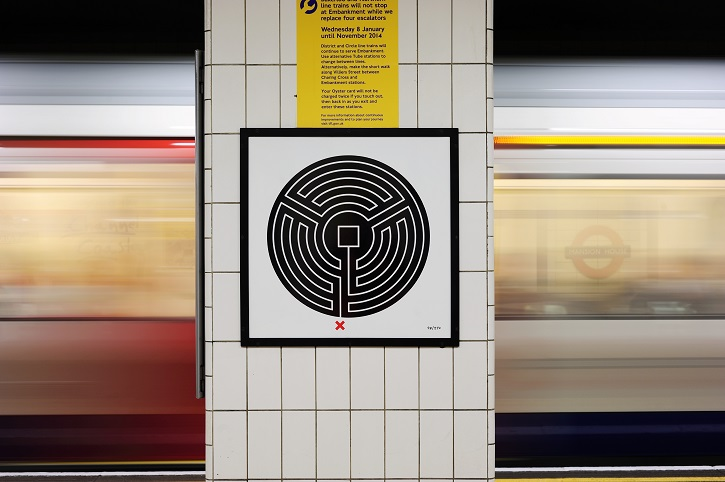 'Labyrinth' by Mark Wallinger at Mansion House station