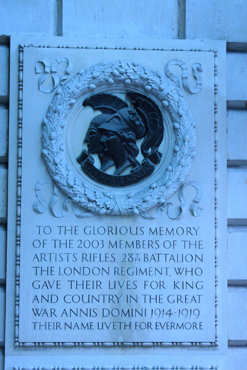 Memorial to the Artists Rifles in Burlington House