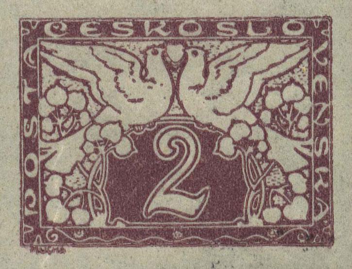 Czechoslovakian stamp design