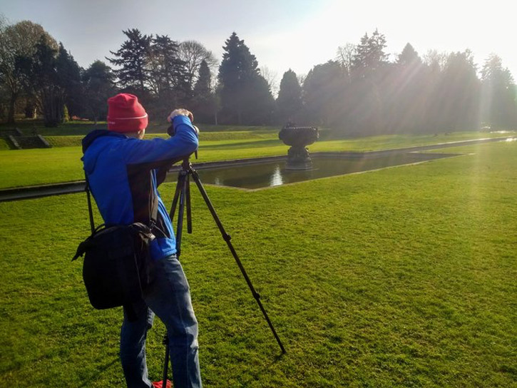 Photographer Dave Griffin at Dyffryn House and Gardens, Vale of Glamorgan