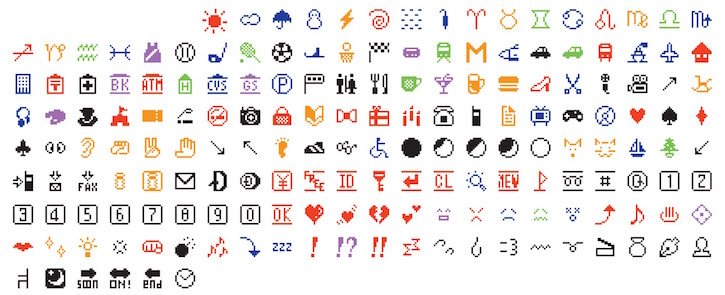 The original 176 Emoji that had been added to The Museum of Modern Art's collection.
