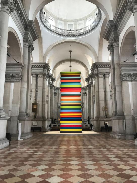 2019, felt on wood by Sean Scully (b.1945), San Giorgio Maggiore, Venice