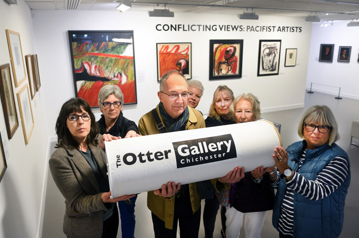 Otter Gallery supporters campaigning against the closure
