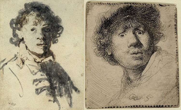 Two self portraits