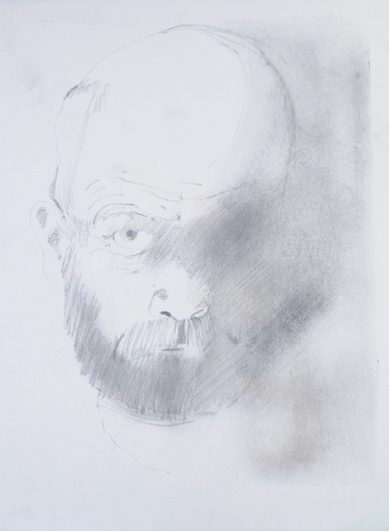 c.1990, pencil on paper, 25 x 19cm by Roger Cecil (1942–2015)