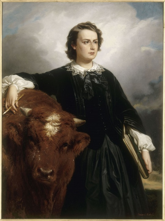 1857, oil on canvas by Édouard Dubufe (1819–1883) & Rosa Bonheur (1822–1899)