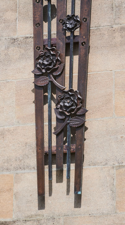 Rose and Poppy Gates (detail of roses)