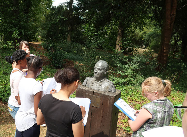 Sculpture Around You at The Scouts Heritage Service in Gilwell Park