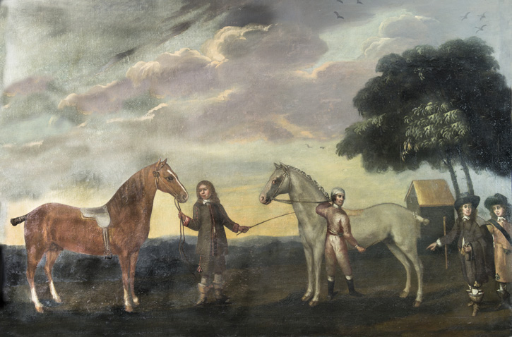 Sir John Cotton Showing His Mantuan Horses to Charles II at Newmarket