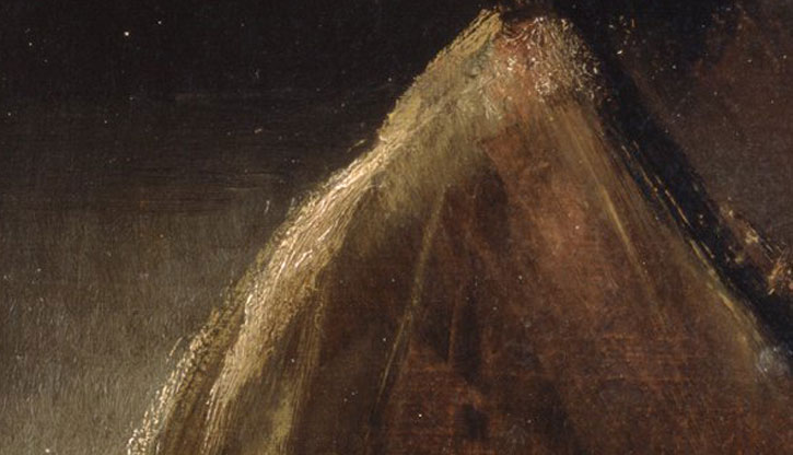 (detail of the shoulder), c.1657, oil on canvas by Rembrandt van Rijn (1606–1669)