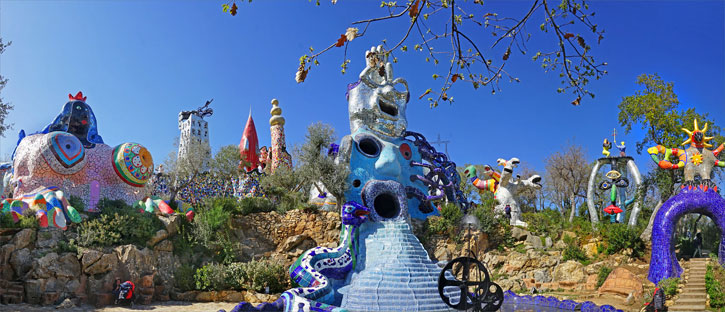 The Tarot Garden of Niki de Saint Phalle in Capalbio, Italy