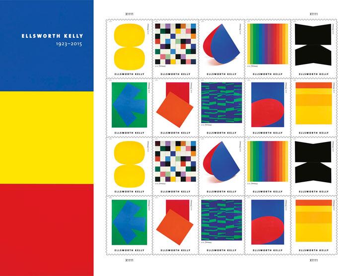 Ellsworth Kelly set of stamps