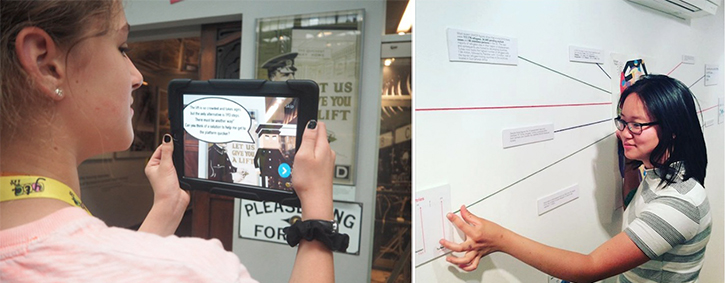 An augmented reality trail at London Transport Museum, and Georgina at work