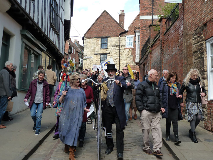 The art March through Lincoln in April 2019