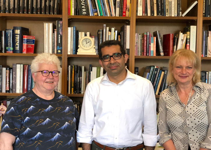 The 2019 Write on Art judges: Val McDermid, Hammad Nasar and Louisa Buck