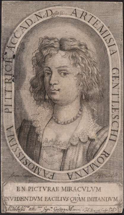 Portrait of Artemisia Gentileschi (after a self portrait)