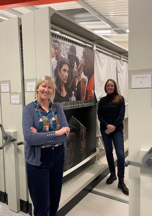 Louise Dunning (left) and Abi Spinks (right) in Nottingham City Museums Collections Centre