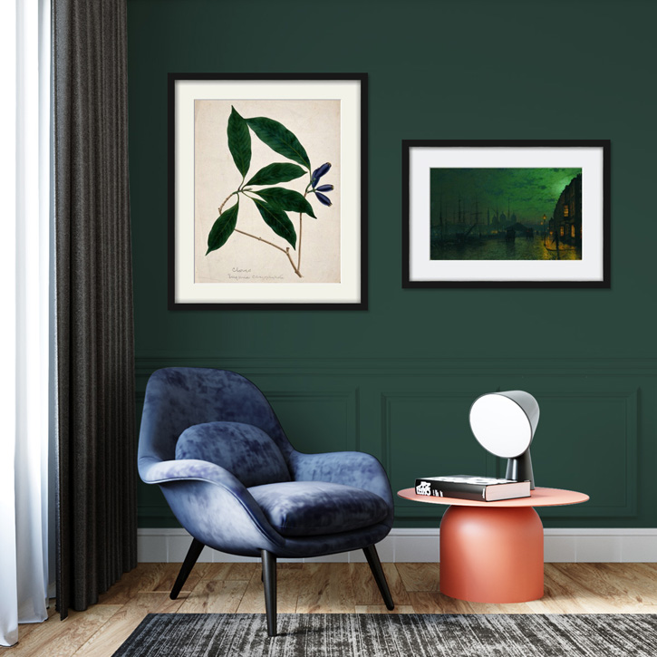 Bottle green prints to suit any space