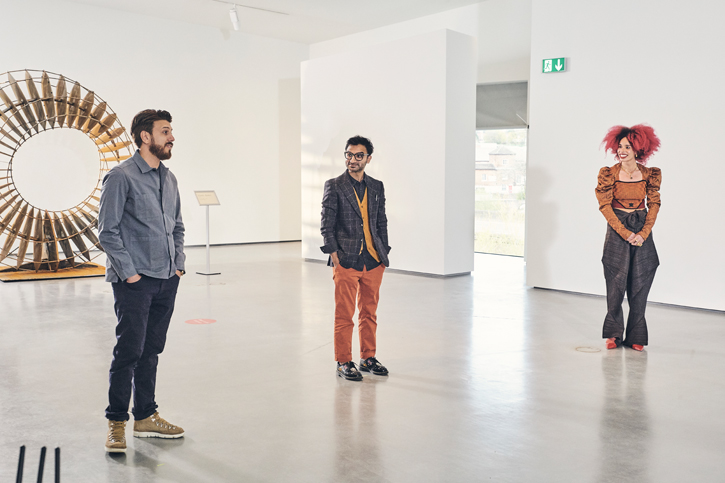The three artists featured in episode one of 'Landmark'
