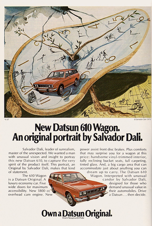 Advertisement designed for Datsun