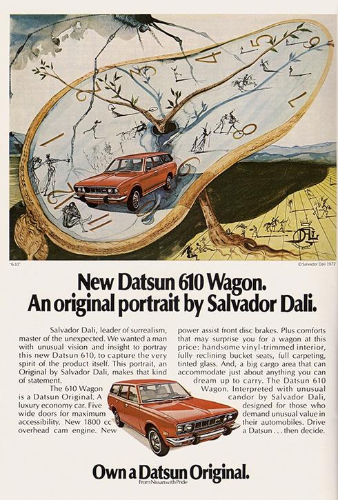 Advertisement designed for Datsun