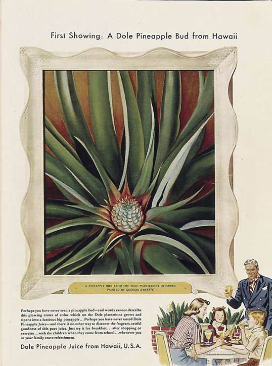 'Pineapple Bud' advertisement designed for Dole Pineapple