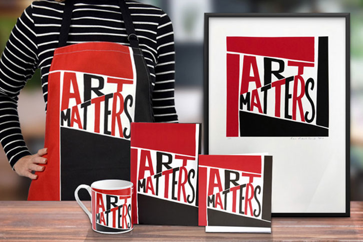 The Art Matters range is based on a design by Bob and Roberta Smith