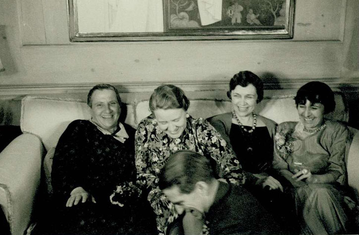 Dinner party at the home of Bobsy Goodspeed, Gertrude Stein and Alice Toklas with friends