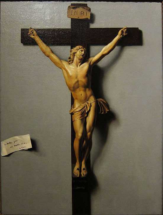 Trompe l'œil of a Crucifix in Ivory and Wood