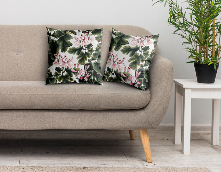 Cushion featuring 'An Ornamental Geranium (Geranium Species): Flowering Stem'