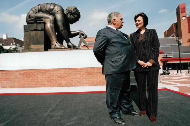 Eduardo Paolozzi and Cherie Blair at the British Library