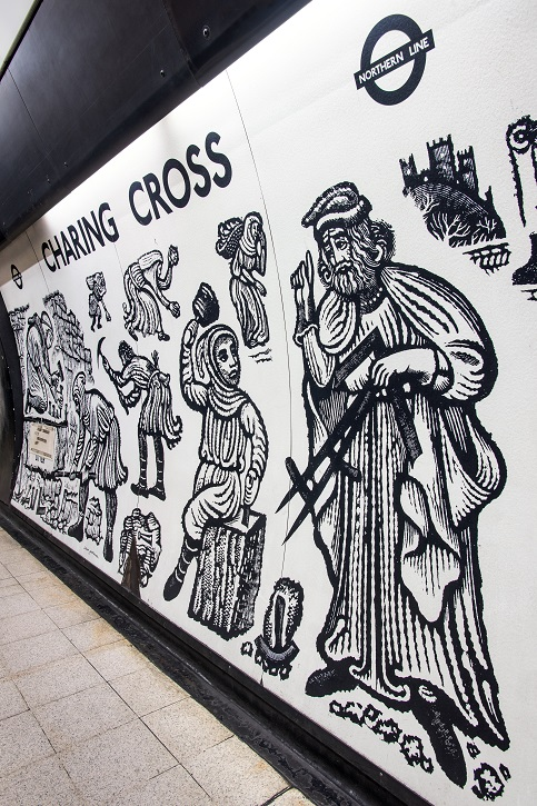 David Gentlemen's murals at Charing Cross station