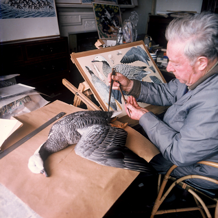 Charles Tunnicliffe in the studio