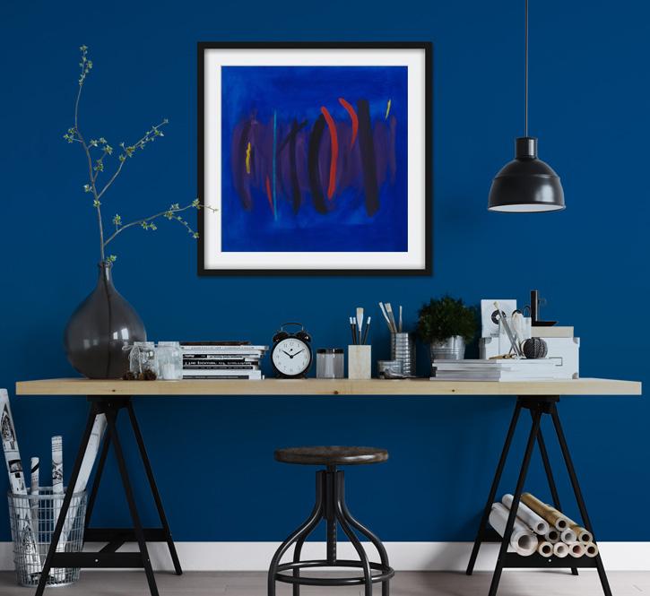 Classic blue tones for a calming interior