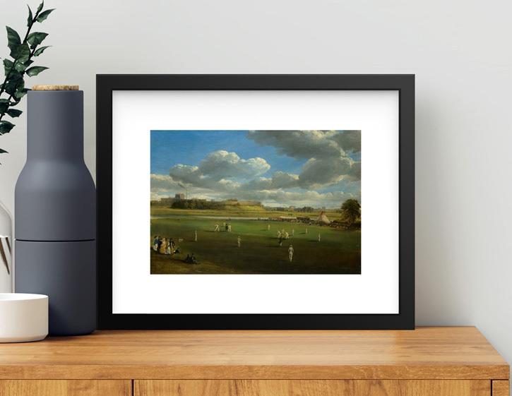Framed print of 'Cricket Match at Edenside, Carlisle'