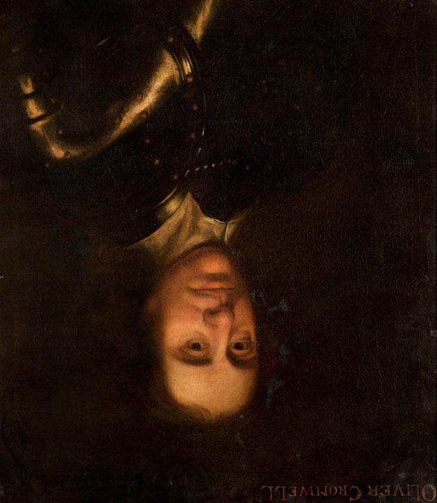 This is how the painting would have looked upside down. Oil on canvas in the style of Robert Walker (1599–1658)
