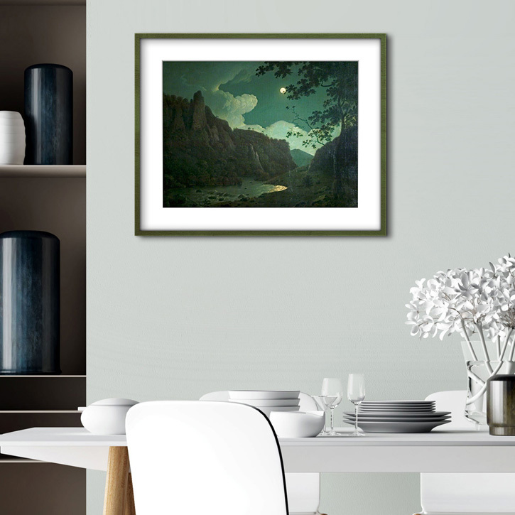 Framed print of 'Dovedale, by Moonlight'