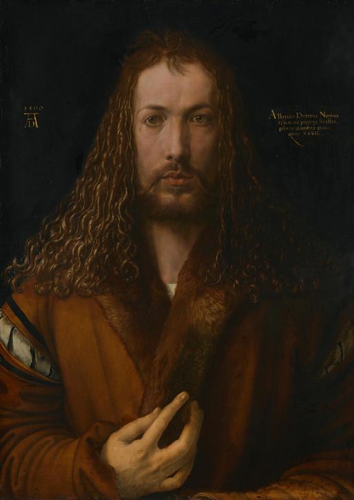Self Portrait in a Fur Robe