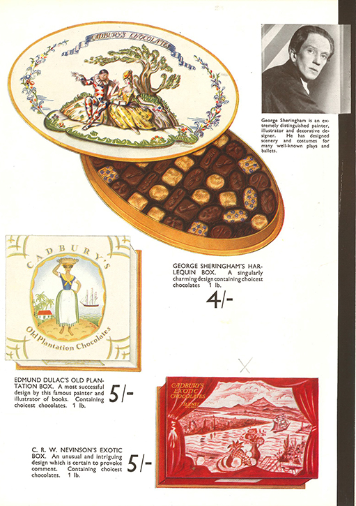 Page in the brochure produced by Cadbury's to promote the 'Famous Artists'