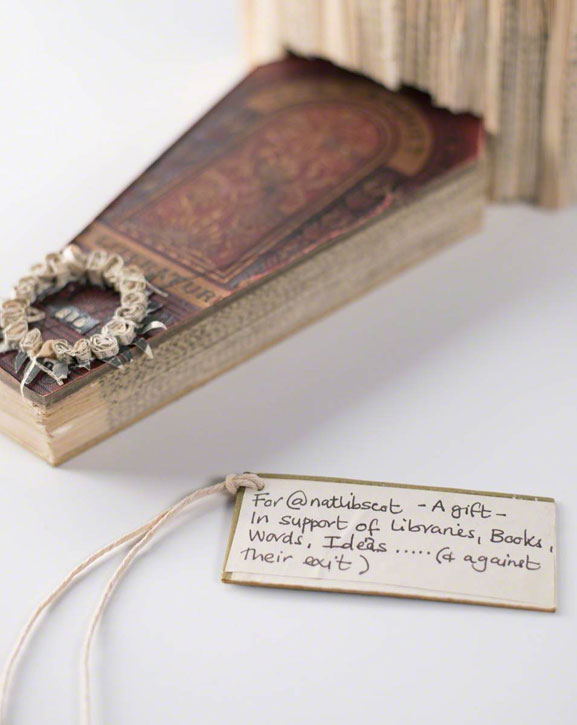 Book Sculpture of a Gramophone and a Coffin (...)